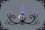 Pixel Chandelure by Sir-Herp