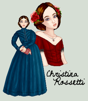 Christina Rossetti by killingarkady