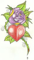 Heart Rose Tattoo 2011 by vikingtattoo