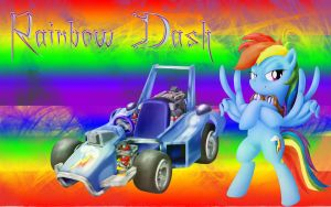 Rainbow Dash Wallpaper (20% Cooler) by DJBrony24