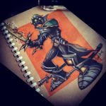 Master Yi from League of Legends - colored by kattyhaven