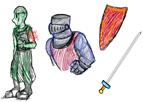 Knight.Guard Sketches by Doodlz18