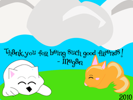 Thank You Card - Friends by robingirl