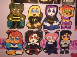 Chibi Titans Together! by nightglider124