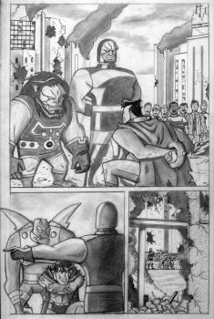 The Crucifixion of Superman pg. 1 by superpicciurro84
