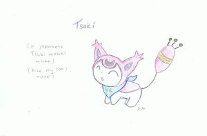 Tsuki the Skitty by wolfspiritsd