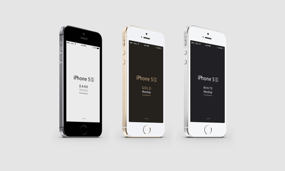 Loot #6 iPhone 5S Psd Vector Mockup (PSD) by graphicloots