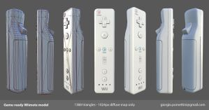 Game-ready Wii model by MightyDargor