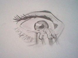 The eye drawing by an 11 year old by slashclaws1