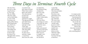 Three Days in Termina - Four by Liefesa
