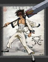 Sanosuke Sagara Fighter For Hire by A-Bear-Artist