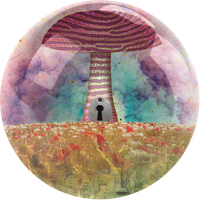 entrance of the magic mushroom by ICONcreations