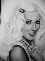 Christina Aguilera drawing, with Cris and Rosalie by xjorieke