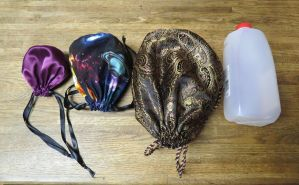 Sizes of Drawstring bags by SarahTheSlightlyMad