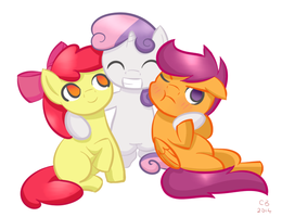 The Cutie Mark Crusaders by aerandel