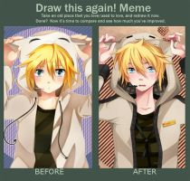 Kagamine Len - Before After meme by Squ-chan
