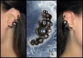 Ear cuff Sea foam by JSjewelry