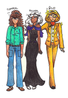 Coinage metals - alternate outfits by Orlageddon
