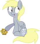 Derpy and her Muffin by blueblitzie