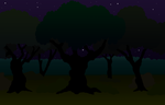 Background nightly forest by Malte279