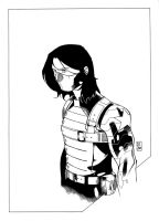 The Winter Soldier [ink] by danielsingzon