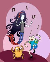 Adventure Time Dancing Colored by artshell
