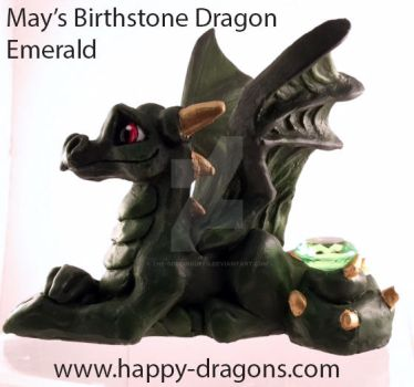 May's Birthstone Dragon Emerald by The-GoblinQueen