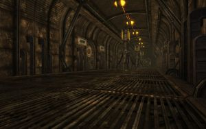 Rock Farm Security Bunker - Main Access Hallway 3 by MLP-NovelIdea