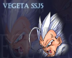 Vegeta, ssj5 form by alessandelpho