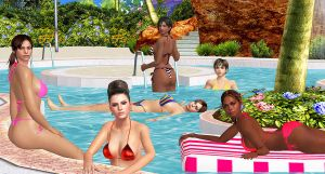 RE-GIRLS    POOL PARTY-BIKINIS by blw7920