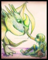 Astrid and Stormfly by neir-2-you