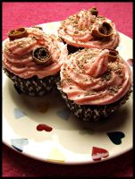 Pink And Brown Cupcakes. by ElectedTheRejected