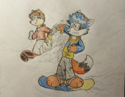 snowboarding fun!!! by Tylerthefox