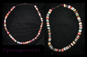 Button necklaces by prismpower23