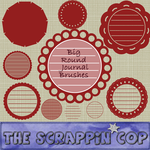 ScrappinCop BIG Round Journals by debh945