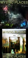 Mystic Places - 5 stock backgrounds pack by bonbonka