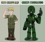 Gus Griswald become Green Commando by MCsaurus