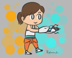 Chell and her Portal Gun by habituals