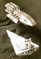 Star Destroyer vs Pegasus by Roguewing
