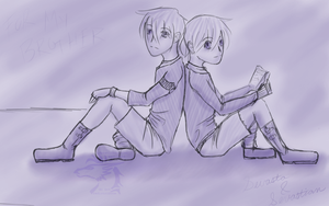 Twins in Purple by pretiossissime