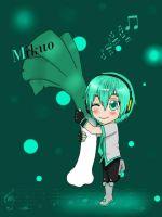 Mikuo and his leek 8D by linkinounet62