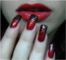 Bloody nails by MorticiaVamp