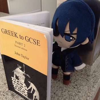 The Adventures of Mini Ciel: Studying by Lysssssa