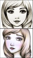 Face Sketches by Jessica-Tanner