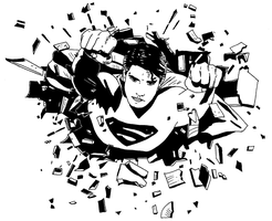 Superman by ladyjart