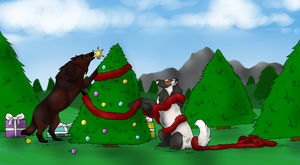 Christmas Collab With Dovie by Utakame