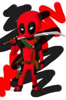 chibi deadpool by rayray18