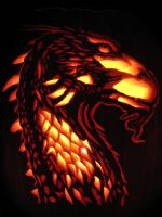 Brisingr pumpkin by MalachiteWing