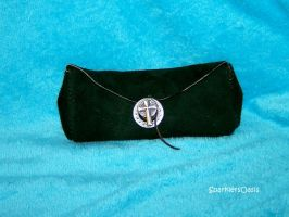 Green suede belt pouch by SparklersOasis
