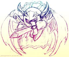 Meta Knight Doodle by JessySketches